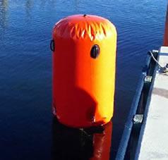 4 foot orange cylinder